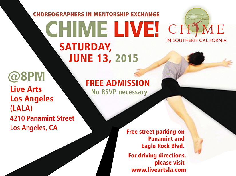 CHIME LIVE Open Studio at Live Arts LA, June 13